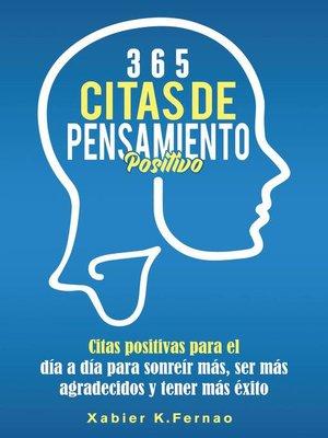 cover image of 365 citas de pensamiento positivo