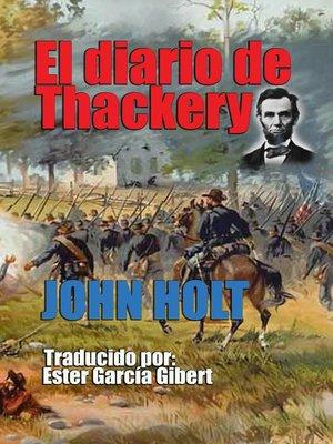 cover image of El diario de Thackery