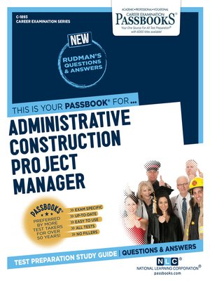 cover image of Administrative Construction Project Manager