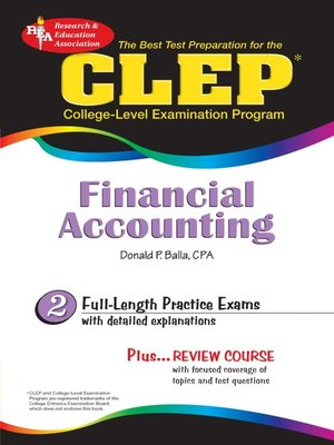cover image of CLEP Financial Accounting