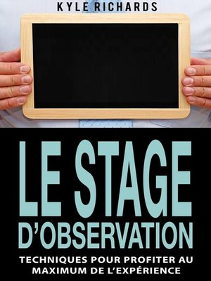cover image of Le stage d'observation