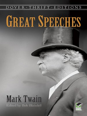 cover image of Great Speeches by Mark Twain