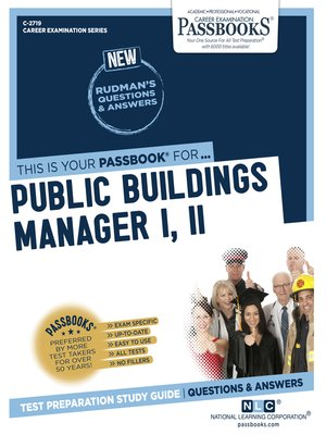 cover image of Public Buildings Manager I, II
