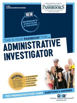 cover image of Administrative Investigator