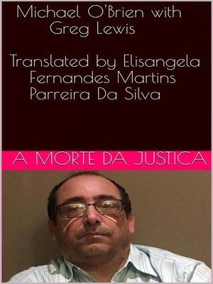cover image of A morte da justiça