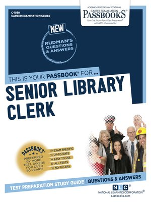 cover image of Senior Library Clerk