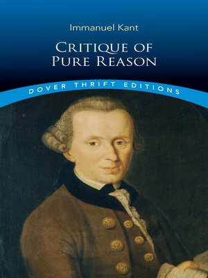 cover image of Critique of Pure Reason