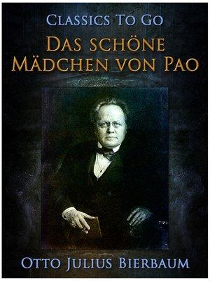 cover image of Das Schöne Mädchen von Pao