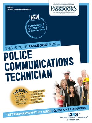 cover image of Police Communications Technician