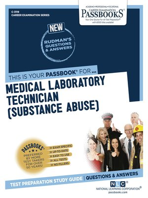 cover image of Medical Laboratory Technician (Substance Abuse)
