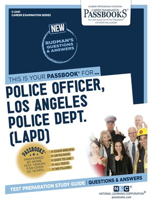 cover image of Police Officer, Los Angeles Police Department (LAPD)