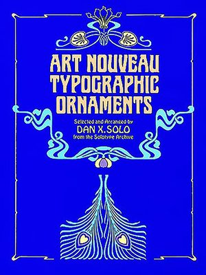 cover image of Art Nouveau Typographic Ornaments