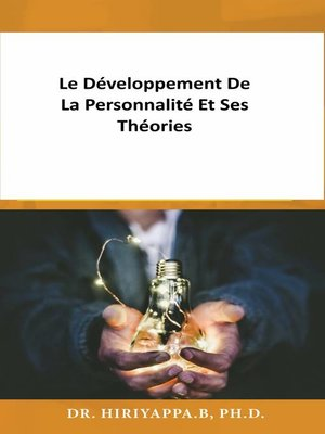 cover image of Le développement de la personnalité et ses théories