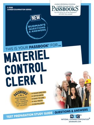 cover image of Materiel Control Clerk I