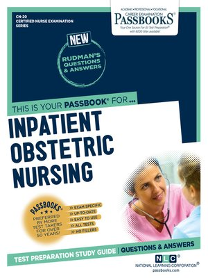 cover image of INPATIENT OBSTETRIC NURSING