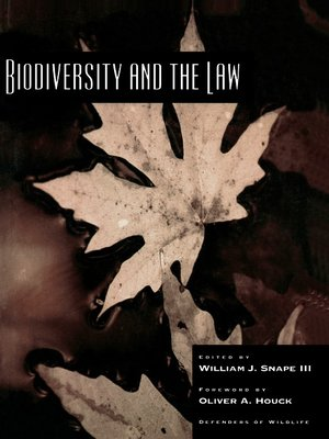 cover image of Biodiversity and the Law