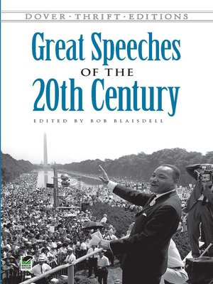 cover image of Great Speeches of the 20th Century