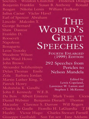 cover image of The World's Great Speeches