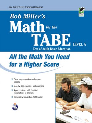 cover image of Bob Miller's Math for the TABE Level A