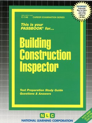 cover image of Building Construction Inspector