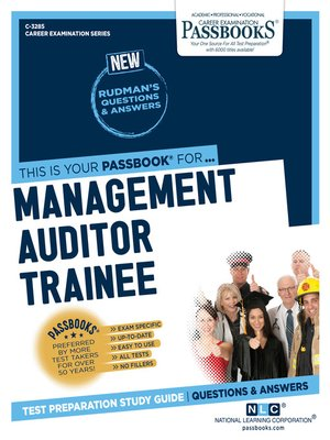 cover image of Management Auditor Trainee