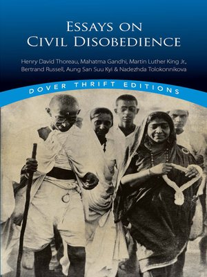 cover image of Essays on Civil Disobedience