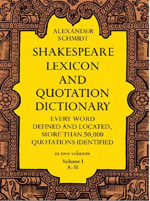 cover image of Shakespeare Lexicon and Quotation Dictionary