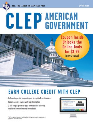 cover image of CLEP American Government w/ Online Practice Exams
