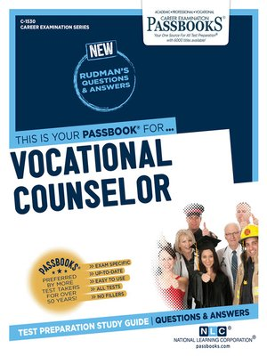 cover image of Vocational Counselor