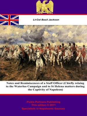 cover image of Notes and Reminiscences of a Staff Officer