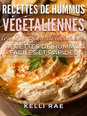 cover image of Recettes de hummus végétaliennes