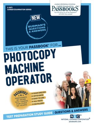 cover image of Photocopy Machine Operator