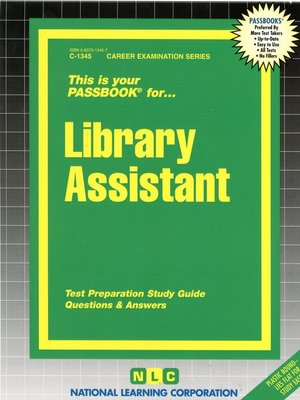 cover image of Library Assistant