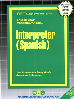 cover image of Interpreter (Spanish)