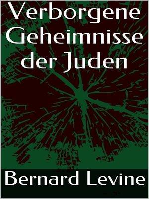 cover image of Verborgene Geheimnisse der Juden