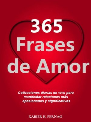 cover image of 365 frases de amor