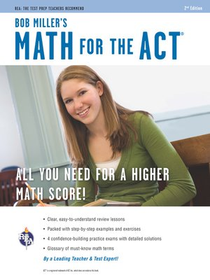 cover image of Math for the ACT 2nd Ed., Bob Miller's