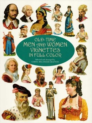 cover image of Old-Time Men and Women Vignettes in Full Color