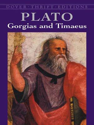 cover image of Gorgias and Timaeus