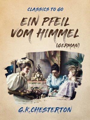 cover image of Ein Pfeil vom Himmel