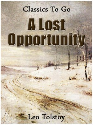 cover image of A Lost Opportunity