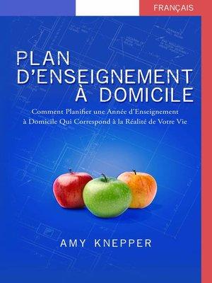 cover image of Plan d'Enseignement  À Domicile