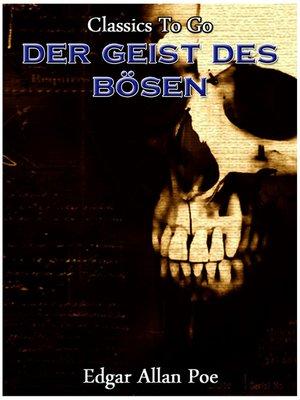 cover image of Der Geist des Boesen