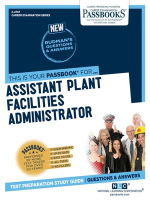 cover image of Assistant Plant Facilities Administrator