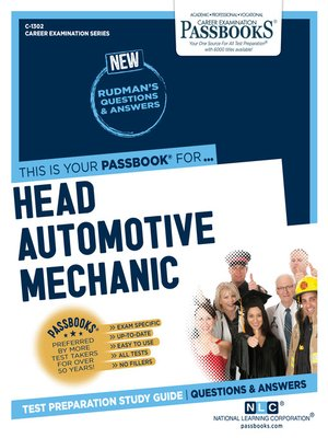 cover image of Head Automotive Mechanic (V)