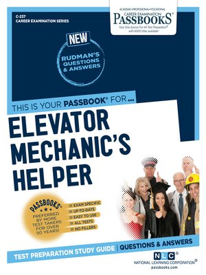 cover image of Elevator Mechanic's Helper