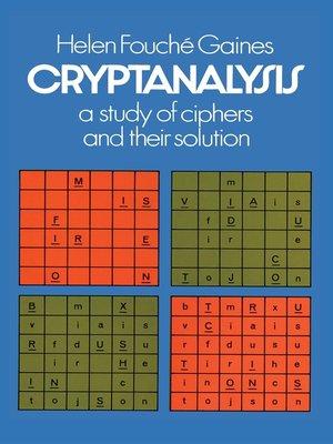 cover image of Cryptanalysis