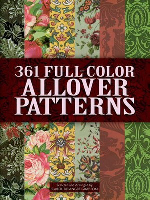 cover image of 361 Full-Color Allover Patterns for Artists and Craftspeople
