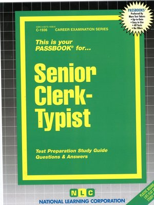 cover image of Senior Clerk-Typist