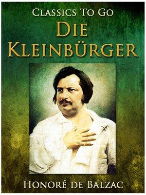 cover image of Die Kleinbürger